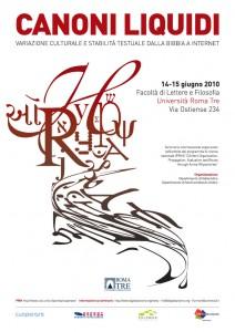 Canoni liquidi, Roma Tre 14-15 giugno 2010