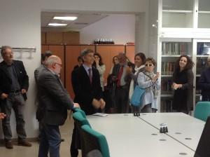 Gianfranco Crupi inaugura la biblioteca